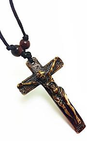 vinden efterligning knogle halskæde jesus Yak knogle tværs vedhæng