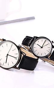 Mulheres Quartzo Relógio de Pulso Relógio Casual Couro Banda Amuleto Fashion Preta Marrom