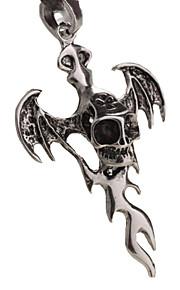 mand halskæde, kreative cross rustfrit stål, titanium stål vedhæng - bat cross