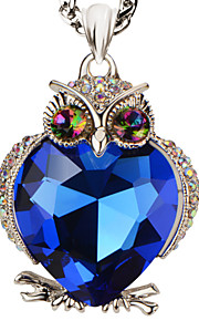 sweater magiske sten 18k guld / platin forgyldt søde ugle halskæder& vedhæng pige gave statement smykker p30155