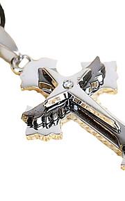 cross sværd titanium mænds 316L rustfrit stål vedhæng halskæde