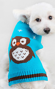 Winter and Autumn Holloween Owls Solid Blue Christmas Deer Orlon Dog Sweater Dog Clothes Holloween Costumn for Pets Dogs