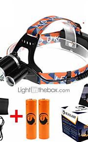U'King ZQ-X821 Lanternas de Cabeça Faixa Para Lanterna de Cabeça Farol Dianteiro LED 5000ML lm 4.0 Modo Cree XM-L T6 Recarregável Tamanho
