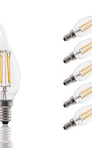 E14 LED-glødepærer B 4 leds COB Dekorativ Varm hvit 300lm 2700K AC 220-240V