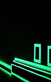 πράσινου φθορισμού αυτοκόλλητο νύχτα φωτεινή λωρίδα ταινίας decal διακόσμησης για την πόρτα σκαλοπατιών μοτοσικλέτα αυτοκίνητο φωτεινή