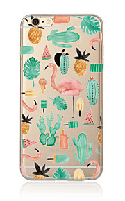 Etui Til Apple iPhone X iPhone 8 Plus iPhone 5 etui iPhone 6 iPhone 7 Gennemsigtig Mønster Bagcover Flamingo Blødt TPU for iPhone X