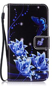fodral Till Samsung Galaxy J7 Prime J5 Prime Korthållare Plånbok med stativ Fodral Blomma Hårt PU läder för J7 Prime J7 (2016) J7 J5