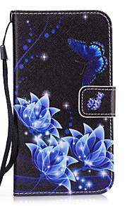 fodral Till Samsung Galaxy S8 Plus S8 Korthållare Plånbok med stativ Skal Blomma Hårt PU läder för S8 Plus S8 S7 edge S7 S6 edge S6 S5