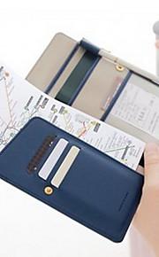 Reisportemonnee Paspoorthouder & ID-houder waterdicht draagbaar Stofbestendig Opbergproducten voor op reis voor Effen