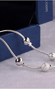 Dame Ankel/Armbånd Sølv minimalistisk stil Smykker Til Bryllup Fest Daglig Afslappet