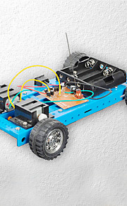 Crab Kingdom® Diy Car Model Assembled Technology Making Toys Four-way Remote Control Car 12 Blue Manual Material Package