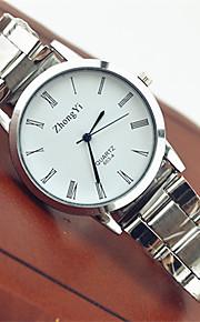 Casal Quartzo Relógio de Pulso Venda imperdível Aço Inoxidável Banda Casual Fashion Branco