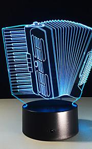 1 stk trekkspill fargerik visjon stereo ledet lampe 3d lampe lys fargerike gradient akryl lampe nattlys visjon