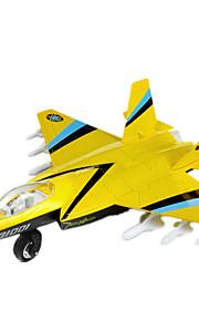 비행기 및 헬리콥터 푸시 & 당겨 장난감 1:10 메탈 플라스틱 블랙 페이드 브라운 노란색