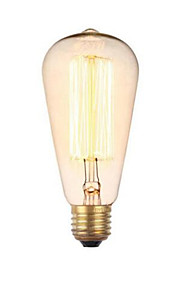 E27 220V 40W ST64 Retro Creative Decoration Tungsten Bulb
