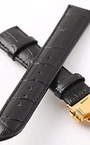 couro legítimo Pulseiras de Relógio Alça Preta 20cm / 7.9 Polegadas 2cm / 0.8 Polegadas