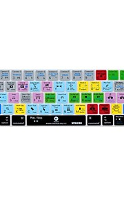 xskn® Premiere Pro cc kort silikon tangentbord huden och pekfältet skydd för 2016 nya MacBook Pro 13,3 / 15,4 med touch bar näthinnan (USA