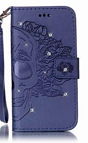 Custodia Per Samsung Galaxy S7 edge S7 Porta-carte di credito A portafoglio Con diamantini Con chiusura magnetica Decorazioni in rilievo