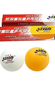 6 Ping Pang/Table Tennis Ball Plastic High Elasticity