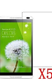 5pcs claro lcd protetor de tela protetora filme para tablet pc 8 huawei mediapad m1 / s8-303