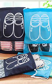 Saco para Sapato Bolsa para Sapatos de Viagem Secagem Rápida Á Prova-de-Pó Dobrável Ultra Leve (UL) Organizadores para Viagem Grossa para