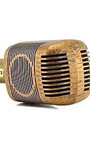 jy-51 레트로 우드 컬러 스타일 마술 노래방 마이크 무선 블루투스 마이크 스피커 노래 레코더 음악 ktv