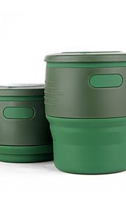 Canecas de Viagem / copo Dobrável Talheres e Copos de Viagem para Dobrável Talheres e Copos de Viagem Bege Vermelho Verde Azul