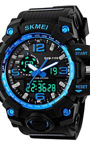 SKMEI Homens Digital Relogio digital Relógio Esportivo Alarme Calendário Silicone Banda Legal Preta