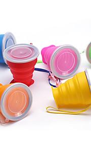 Travel Mug / Cup / Water Bottle Foldable Travel Drink & Eat Ware Silica Gel 9*8/4.5cm cm