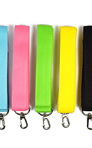 Cat Dog Portable Safety Solid Colored Nylon Yellow Green Blue Pink Black