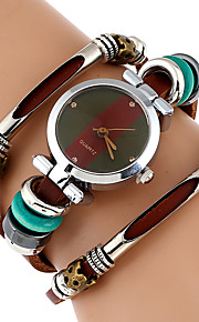 Women's Bracelet Watch Wrist Watch Quartz Cool Imitation Diamond Genuine Leather Band Analog Vintage Casual Butterfly Brown - Black Brown Green One Year Battery Life