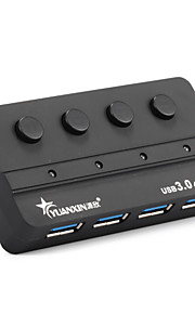 4 Ports USB 3.0 Super Speed Hub 5Gbps With Switch With Power Source