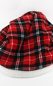 Cat Bed Pet Baskets Plaid/Check Ruby Gray
