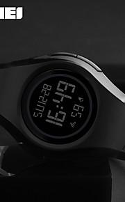 SKMEI Homens Digital Relogio digital Relógio Esportivo Japanês Alarme Impermeável Noctilucente Borracha Banda Casual Legal Preta