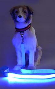 강아지 가죽끈 스트로브 안전 솔리드 테릴렌 옐로우 레드 그린 블루 핑크