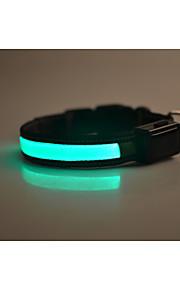 Colarinho Reflector Luz LED Segurança Sólido Náilon