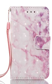 Case For Apple ipod touch 5 touch 6 Case Cover Card Holder Wallet with Stand Flip Pattern Full Body Case Marble Hard PU Leather