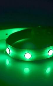 강아지 칼라 LED 조명 스트로브 솔리드 TPU 옐로우 레드 그린 블루 핑크