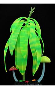 Aquarium Decoration Plants Luminous Rubber