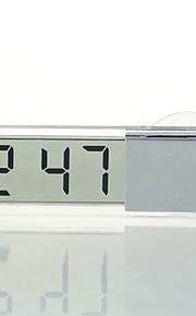 Ziqiao samochód elektroniczny zegar ciekłokrystaliczny wyświetlacz lcd samochód zegar cyfrowy zegar z przyssawką