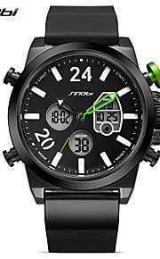 SINOBI Homens Relógio Esportivo Relógio Casual Relogio digital Chinês Digital LED Calendário Impermeável Dois Fusos Horários Mostrador