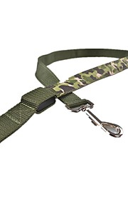 Hond Lijnen Veiligheid Camouflage Kleur Textiel Binnenwerk Geel Rood Groen Blauw Roze