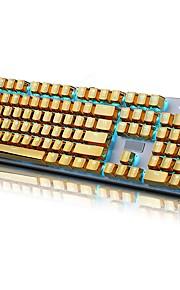 ε-στοιχείο 104 pbt διπλό πυροβολισμό έγχυσης οπίσθιο φωτισμό χρυσό μεταλλικό χρώμα keycaps για όλα τα μηχανικά πληκτρολόγια με puller