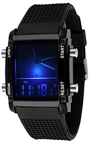 Homens Quartzo Relogio digital Relógio Militar Relógio Esportivo Chinês Calendário Cronógrafo Impermeável LED Punk Noctilucente Cronômetro