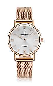 Homens Mulheres Relógio de Moda Chinês Quartzo Impermeável Aço Inoxidável Lega Banda Casual Prata Titânio