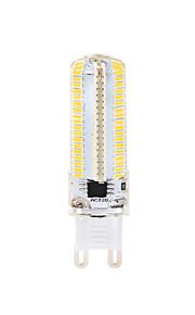 8W LED-kornpærer 152 SMD 3014 700 lm Varm hvit Hvit 3000-3500  6000-6500 K Mulighet for demping AC110 AC220 V 1pc