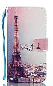Funda Para Samsung Galaxy Cartera Soporte de Coche con Soporte Flip Diseños Magnética Cuerpo Entero Torre Eiffel Dura Cuero Sintético para