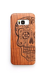 For Case Cover Shockproof Pattern Back Cover Case Skull Hard Wooden for Samsung Galaxy S8 Plus S8 S7 edge S7 S6 edge plus S6 edge S6 S6