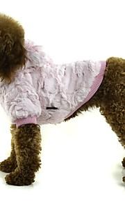 Cane Cappottini Abbigliamento per cani Casual Tinta unita Arancione Grigio Rosa
