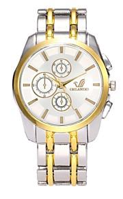 Homens Relógio Elegante Relógio de Moda Relógio de Pulso Chinês Quartzo imitação de diamante Lega Banda Casual Prata